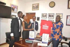 WISCONSIN LAW STUDENTS PAY COURTESY CALL ON CHIEF OF STAFF AT THE JUBILEE HOUSE